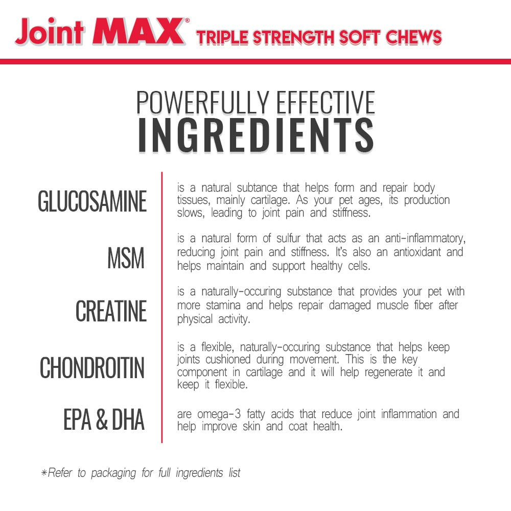 Joint Max Triple Strength Soft Chews for All-Aged Dogs (30 Soft Chews)